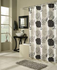 summer garden microfiber shower curtain