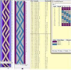 13 tarjetas, 3 y 4 colores, repite cada 24 movimientos - 2 enhebrados distintos // sed_262 diseñado en GTT༺❁