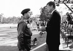 """When President Kennedy met  General Yarborough in 1961, it was the turning point of the US Army Special Forces - A statue commemorating that event was dedicated on Fort Bragg - donated by Ross Perot it was the same time that the """"Green Beret"""" was authorised by the US President."""