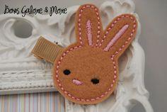 Ready to ship Handmade Girls Bunny Felt Hair by bowsgalorenmore
