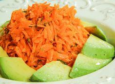 Grated Carrot and Meyer Lemon Salad with Garlic and Avocado #glutenfree #antiinflammatory #dairyfree #vegan #vegetarian