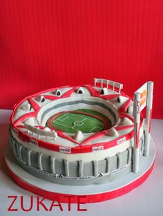 torta estadio de river - Buscar con Google Soccer Party, Soccer Ball, Pastel Cakes, Ideas Para Fiestas, Plates, Sweet, Gabriel, Google, Angel