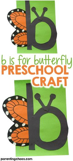 We've been having fun with letter of the week crafts. This b is for Butterfly letter of the week craft is one that your kids will love to do while learning all about the letter B! Letter B Activities, Preschool Letter Crafts, Alphabet Letter Crafts, Abc Crafts, Daycare Crafts, Preschool Activities, Letter Tracing, Nanny Activities, Classroom Crafts