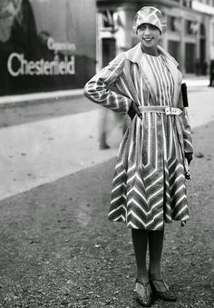 Josephine Baker in Chevron pattern (Just Peachy, Darling: Timeless Patterns, Not a Passing Trend)