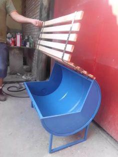 Scrap metal furniture 67 ideas for 2019 Barrel Scrap metal furniture 67 ideas for 2019 Garage Furniture, Barrel Furniture, Metal Furniture, Furniture Design, Furniture Ideas, Oil Barrel, Metal Barrel, Barrel Projects, Welding Projects