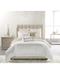 Hotel Collection CLOSEOUT! Ivory Luxe Border Bedding Collection, Created for Macy's & Reviews - Bedding Collections - Bed & Bath - Macy's Bed Sheets Online, Cheap Bed Sheets, Queen Bedding Sets, Queen Duvet, King Comforter, Red Duvet Cover, Duvet Covers, Ivory Bedding, Yurts