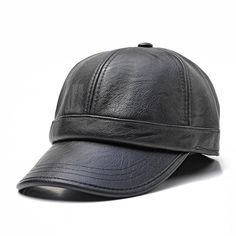 Men Women Earmuffs Artificial Leather Letter Badge Baseball Cap Outdoor  Adjustable Dad Peaked Hat b357a8383870