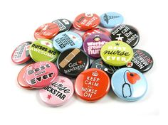 Nurse Appreciation Buttons  Set of 24 Pin Back or by PandaLoveShop, $9.75