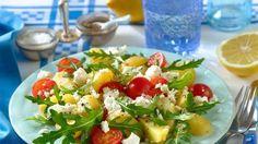 Kartoffel-Rauke-Salat mit Feta
