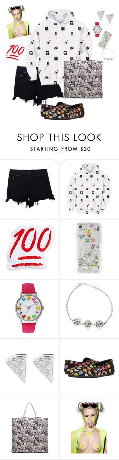 """""""who doesn't love an emoji?"""" by nathifadorable ❤ liked on Polyvore featuring rag & bone, Aloha From Deer, Throwboy, Rebecca Minkoff, A Classic Time Watch Co., GFase, Rock 'N Rose, BOBS from Skechers and Chanel"""