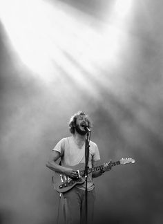 For a long time, Justin Vernon from Bon Iver was my favourite musician, I would listen to the beautiful yet haunting music played by him and his band almost every day, and was a great source of inspiration for me, and still is. Sound Of Music, Music Love, Good Music, My Music, Bon Iver, Reverend Guitars, Justin Vernon, Folk, Indie Pop