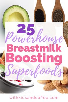 Breastmilk-boosting superfoods | For many nursing moms, increasing breastmilk production can be challenging. These foods can be added to a breastfeeding diet to help the mom make more breastmilk---a healthy way to increase your breastmilk supply!