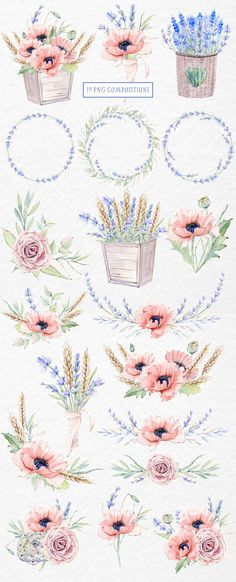 MY PROVENCE STORY watercolor set by Lemaris on @creativemarket