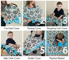 Babee Covee: 6 in 1 baby blanket, infant car seat cover, cart cover, nursing cover, playmat, stroller blanket // best baby shower gift ever. $40