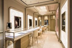 Nirav Modi Unveils High Jewelry At Paris Jewellery Shop Design, Jewellery Showroom, Jewelry Shop, Jewelry Stores, Jewelry Wall, Jewelry Tray, Jewelry Armoire, Showroom Design, Shop Interior Design