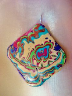 Unisex Purple Polymer Clay Pendant OOAK DeCicco by FabulousDesign, $4.99 made by Donna DeCicco