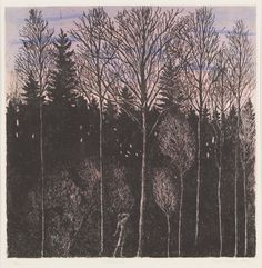 Afterglow - Inari Krohn, Etching, 49 x 48 cm. Relax, Paintings, Kunst, Paint, Painting Art, Painting, Painted Canvas, Drawings, Grimm