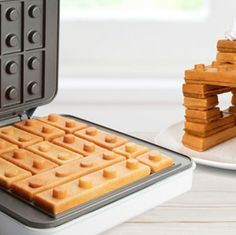 You're not supposed to play with your food, but all bets are off when your breakfast is in the shape of Lego building blocks. The Building Brick Waffle Maker lets you build with carbs. Lego Building Blocks, Maker Shop, Belgian Waffles, Chicken And Waffles, Recipe Of The Day, New Recipes, Delish, Brick