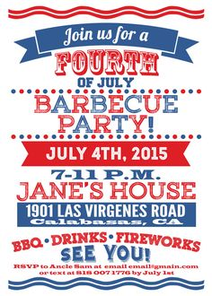 4th of july invites fourth of july invites by customprintablesny