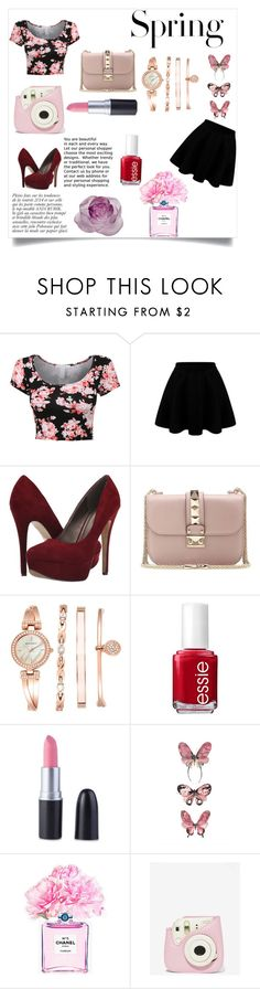 """""""Finally Spring"""" by selena-gomezlover ❤ liked on Polyvore featuring H&M, Anja, Michael Antonio, Valentino, Anne Klein, Essie, Chanel and Daum"""