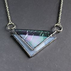 Stained Glass Statement Necklace - ooak | Tophatter
