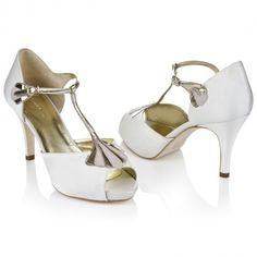 Carmen Ivory Satin | Rachel Simpson Shoes
