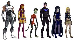 Teen Titans 'Young Justice' Style