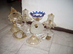 Lampade varie in vetro di Murano