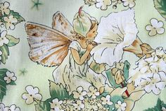 Flower Spirits  Cicely Mary Barker  Cotton Linen Fabric by cloth2u, $3.80