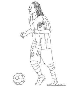 Coloriage du joueur de foot Eden Hazard. À imprimer