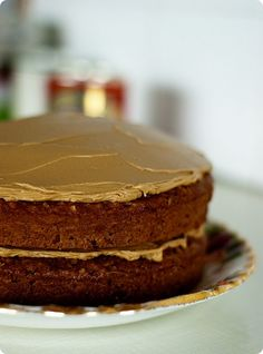 Apple & Walnut Cake with Black Treacle Icing.