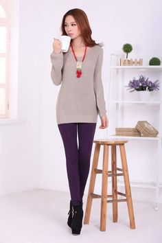 Korean Winter Fashion Plus Size Leggings