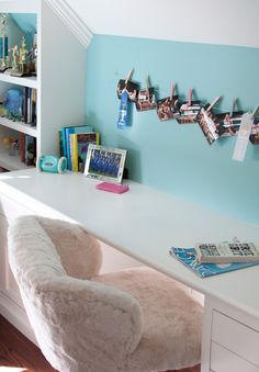 House of Turquoise: Teen Bedroom Desk For Girls Room, Girls Desk Chair, Cool Desk Chairs, Girl Desk, Teen Desk, Arm Chairs, Teen Bedroom Desk, Office Chairs, Kids Room
