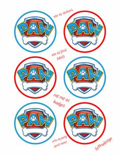 Paw Patrol Birthday Party Badge 3 inch circles 2 by laPradesign Paw Patrol Cake, Paw Patrol Birthday, Paw Patrol Weihnachten, T Shirt Folie, Paw Patrol Lookout, Imprimibles Paw Patrol, Paw Patrol Stickers, Paw Patrol Christmas, Paw Patrol Party Decorations