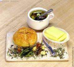 Грибной суп набор для обеда кукольная миниатюра - Чудеса в ладошке (Акинина Марина)