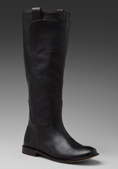 Frye Paige Tall Riding Boot in Black