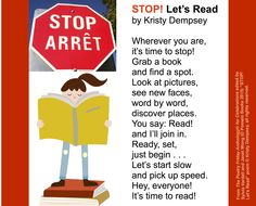 """STOP! Let's Read"" by Kristy Dempsey from THE POETRY FRIDAY ANTHOLOGY® FOR CELEBRATIONS edited by Sylvia Vardell and Janet Wong (Pomelo Books, 2015)"