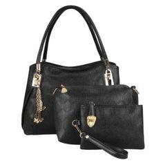 Dresslink - Dresslink Women's 3pcs Synthetic Leather Embossing Bag Set - AdoreWe.com