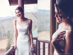 "A mountain-view wedding! Real Bride Maritza looks absolutely gorgeous in Augusta Jones ""Annalize"" gown!"