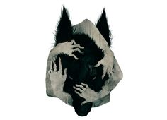 The wolf reminds me of the Gmork from The Neverending Story. My childhood night… The wolf reminds me of the Art And Illustration, Der Steppenwolf, Fenrir Tattoo, Werewolf Tattoo, Arte Obscura, Tatoo Art, Wild Dogs, Dog Art, Amazing Art