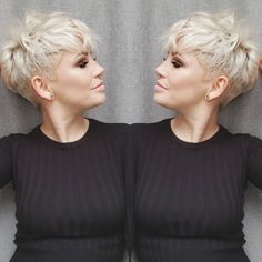 Today we have the most stylish 86 Cute Short Pixie Haircuts. Pixie haircut, of course, offers a lot of options for the hair of the ladies'… Continue Reading → Grey Hair Dark Roots, Short Grey Hair, Dark Hair, Medium Hair Cuts, Short Hair Cuts, Medium Hair Styles, Short Hair Styles, Funky Blonde Hair, Blonde Pixie