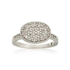 .55 ct. t.w. Pave Diamond Ring in 14kt White Gold  Ross Simons