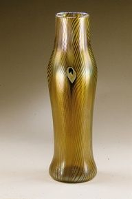 Tiffany Studios, New York, Iridescent Favrile Glass Vase.