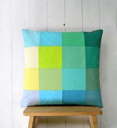 Cushion Covers – unique patchwork decor pillow – a unique product by lamoppe on DaWanda