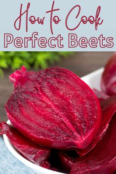 How to Cook Beets (Boiled, Instant Pot, Roasted/Air Fried) Love beets but not sure how to cook them? When you want to enjoy this tasty root veggie, you need to follow these tips on how to cook beets. We present three simple methods, including boiled, Instant Pot, and roasted, or, air fried to suit your tastes and needs. You can then use the cooked beets in your favorite salads, soups, sides, and main dishes.