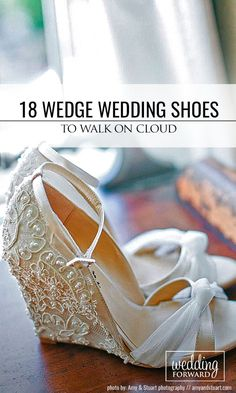 18 Wedge Wedding Shoes To Walk On Cloud ❤ From elegant wedge wedding shoes to sandal wedges, in these beautifull shoes you will floating on cloud from the morning to the unforgetable last dance. See more: http://www.weddingforward.com/wedge-wedding-shoes/ #weddings #shoes