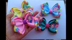 Laço Vick Alterado - YouTube Diy Bow, Diy Hair Bows, Cute Bows, Ribbon Bows, Diy Hairstyles, Paper Flowers, Hair Clips, Headbands, Baby Shoes