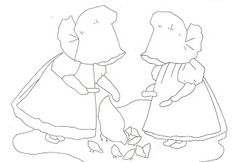 vintage sunbonnet sure pattern | love these sweet little ones, Sue and Hannah, as they go about their ...