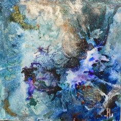 "Abstract Artists International: Original Abstract Painting ""Dark Energy"" by New Orleans Artist Lou Jordan"