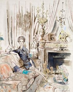 A Cecil Beaton drawing